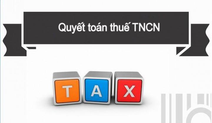 CV trả lời không thuộc diện nộp quyết toán TNCN
