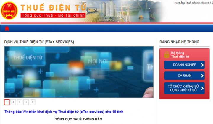 Đăng ký mã số thuế cá nhân qua thuedientu (etax) mới nhất