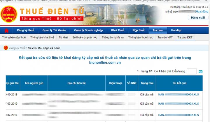 Dữ liệu tncnonline.com.vn đã chuyển sang thuedientu.gdt.gov.vn